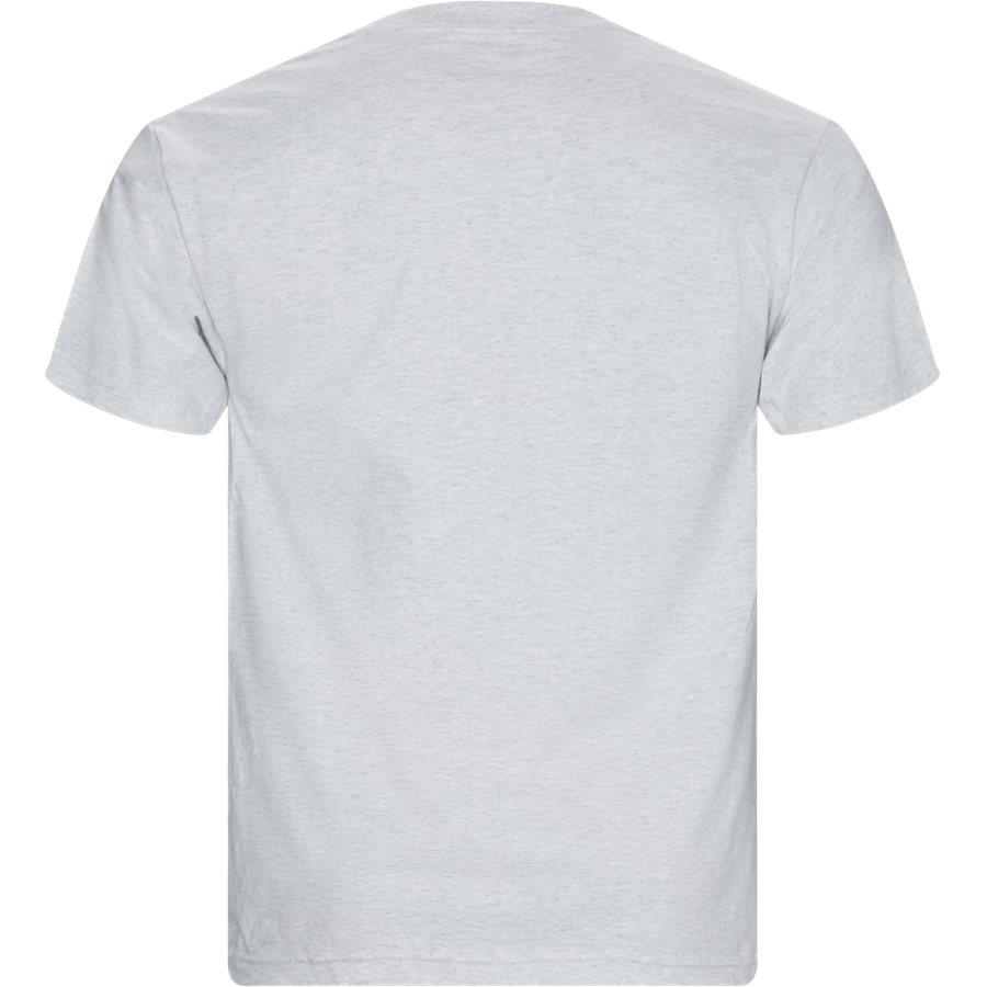 FLIPPED LOGO TEE - T-shirts - Regular - GRÅ MEL - 2